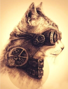 steampunk-art-cat